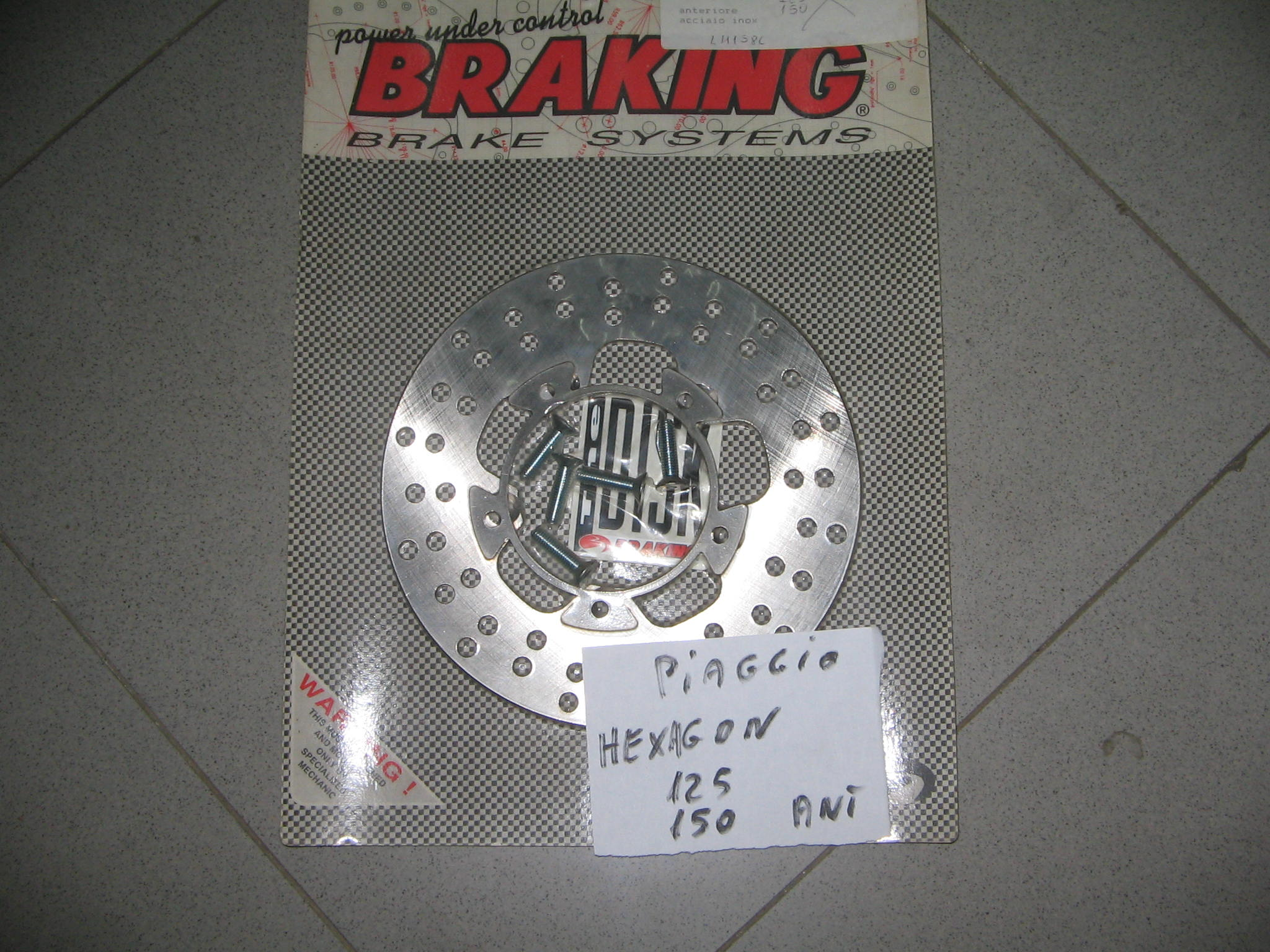 HEXAGON 125 DISCO FRENO N. 1055